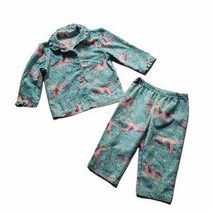 Carter's 2 Piece Unicorn Fleece Pajamas 12M